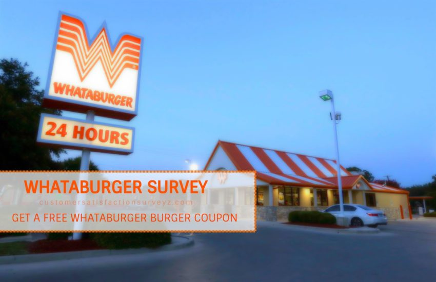 Whataburger Survey coupon