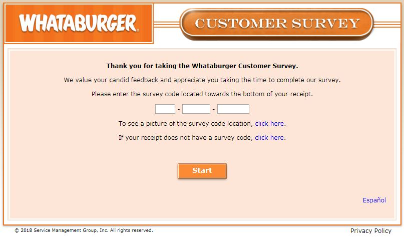 Whataburger Survey