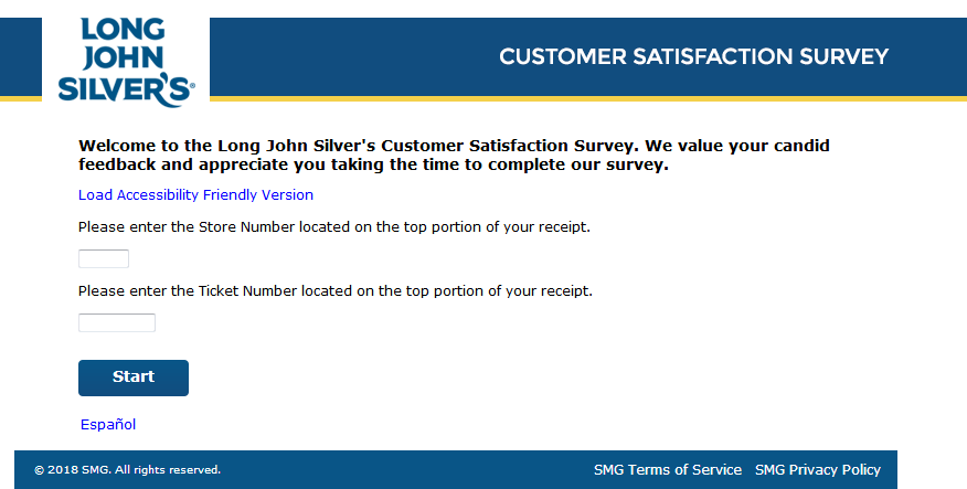 Long John Silver's Customer Survey