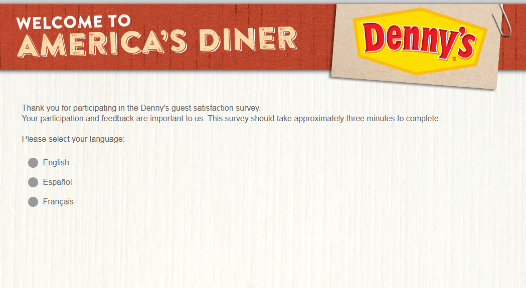 Denny's Guest Satisfaction Survey