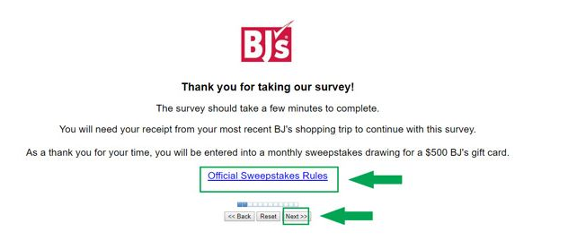 BJ's Survey