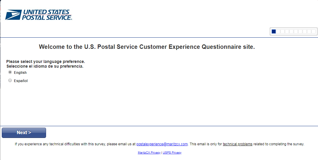 USPS Customer Satisfaction SurveyUSPS Customer Satisfaction Survey