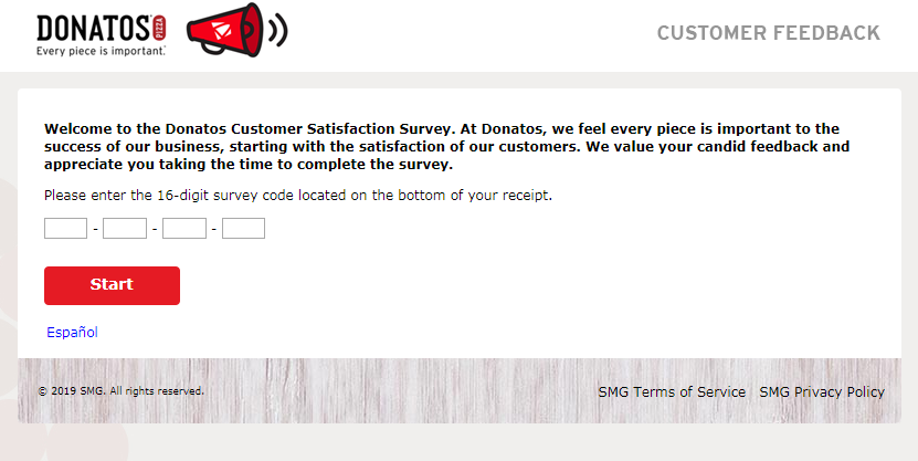 www.donatosfeedback.com Donatos Customer Satisfaction Survey