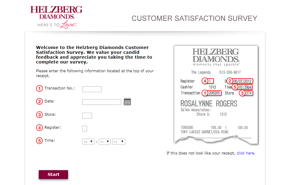 Helzberg Diamonds SurveyHelzberg Diamonds Survey